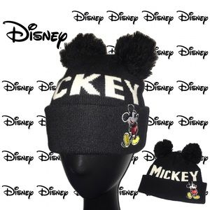 Mickey Mouse Double Pom Pom Beanie Hat Disney